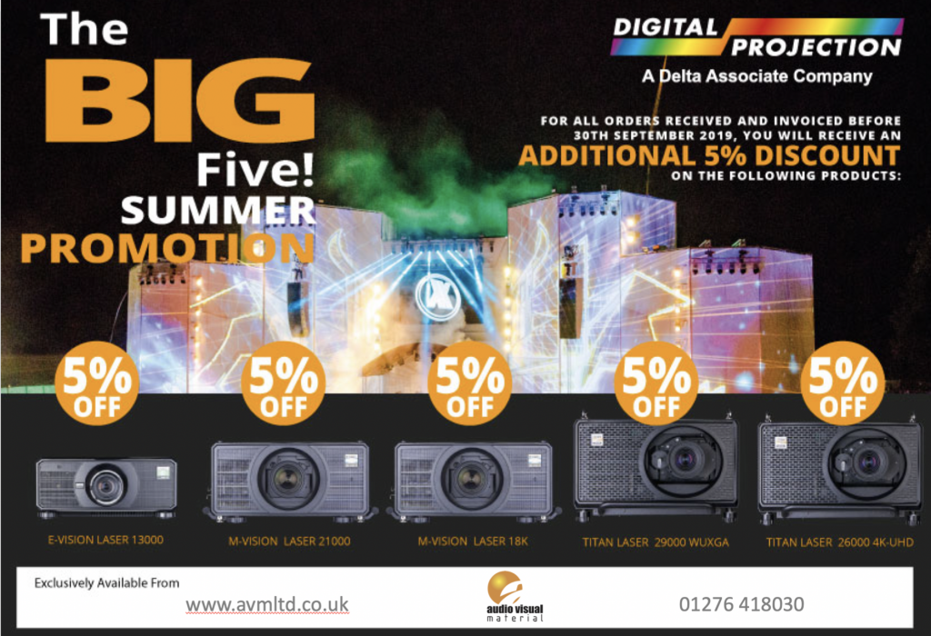 Big Five summer promotion from Digital Projection
