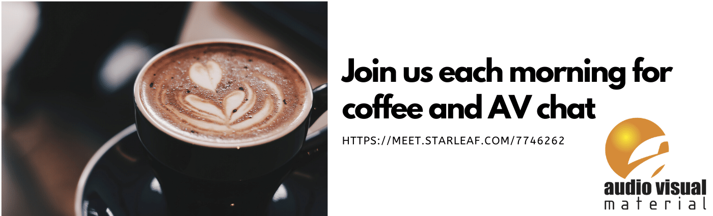 Join us each morning for coffee and chat